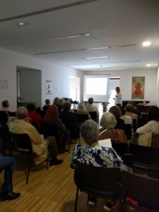 Tercera fotografía del taller en la Biblioteca Conde Duque